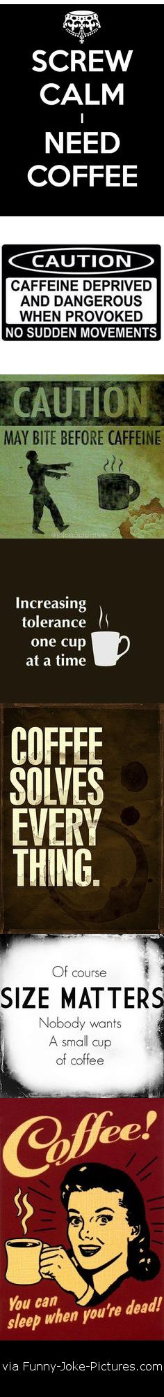 Funny Coffee Sign Collection Picture Strip #CoffeeHumor
