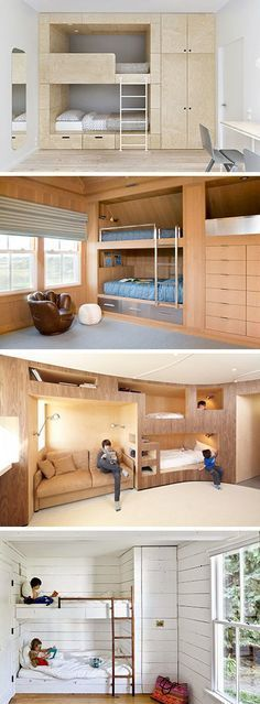12 Inspirational Examples Of Built-In Bunk Beds