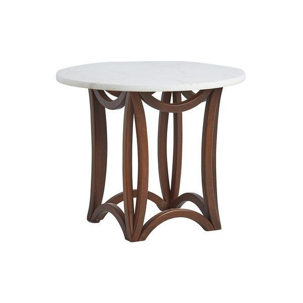 Pre-owned Marble & Mahogany Side Table ($595) ❤ liked on Polyvore featuring home, furniture, tables, accent tables, painted accent tables, mahogany lamp table, painted coffee tables, marble end tables and mahogany coffee table