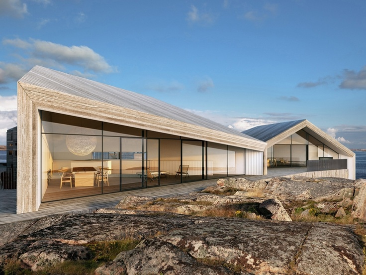 Klevens Udde Development by Wingårdh Arkitektontor & PEAB, Sweden.: Residential Architecture, Minimalist Architecture, Contemporary Shoresid, Swedish Design, Wingardh Arkitektontor, House Building, Villas Flattarna, Dreams House, Kleven Udd