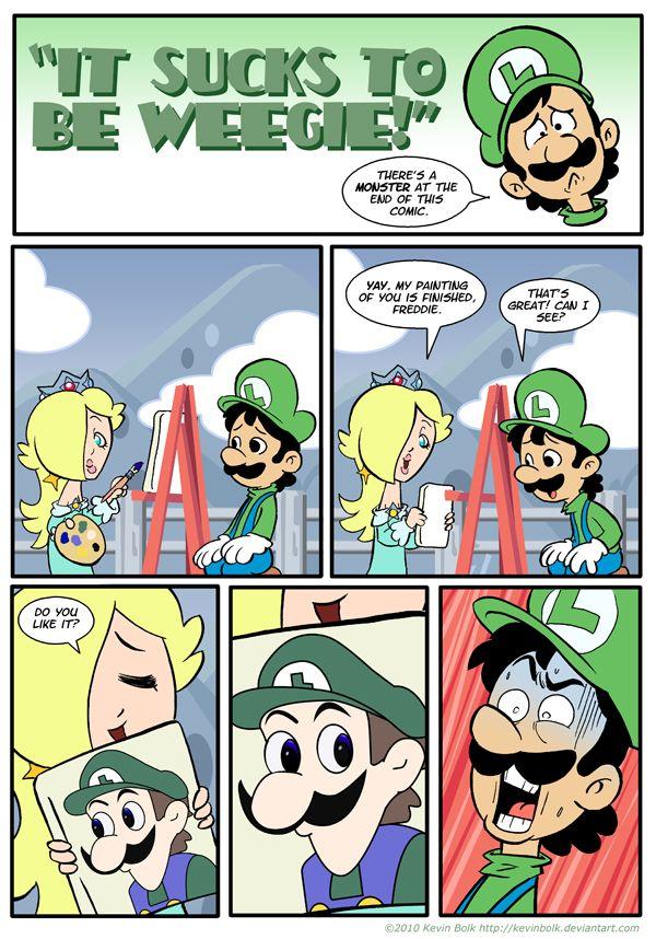 Sucks to be Luigi: Portrait by *kevinbolk