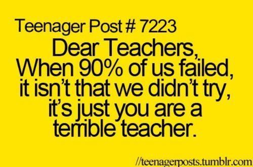 Teenage post , teachers
