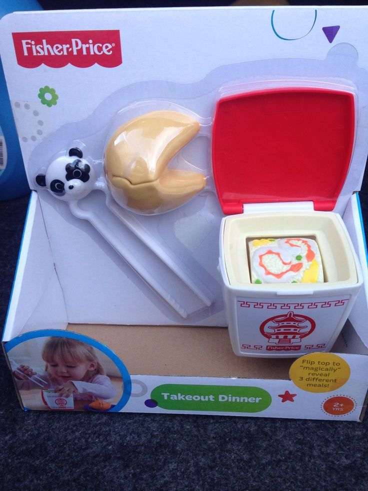 New Fisher Price Fun With Food Take Out Dinner Chinese