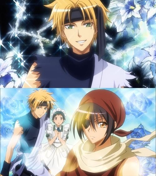 kaichou wa maid sama. Lookin' like bosses to save the maidenly boy in a maid costume.