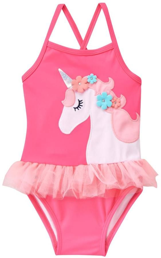 18aad39434 Gymboree Unicorn 1-Piece Swimsuit | Kids Closet | Toddler swimsuits,  Toddler outfits, Toddler girl outfits