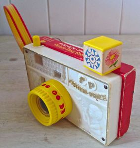 Vintage 1967. Collection. Jeu FISHER PRICE Caméra