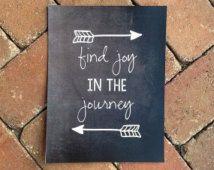 Find Joy in the Journey Chalkboard Printable - Personalized Chalkboard Sign