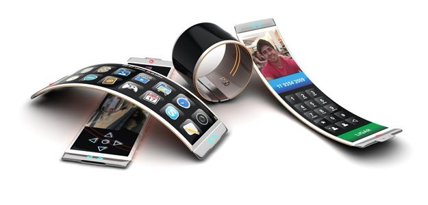 Future smartphones could use elastic materials to make them bendable and flexible.
