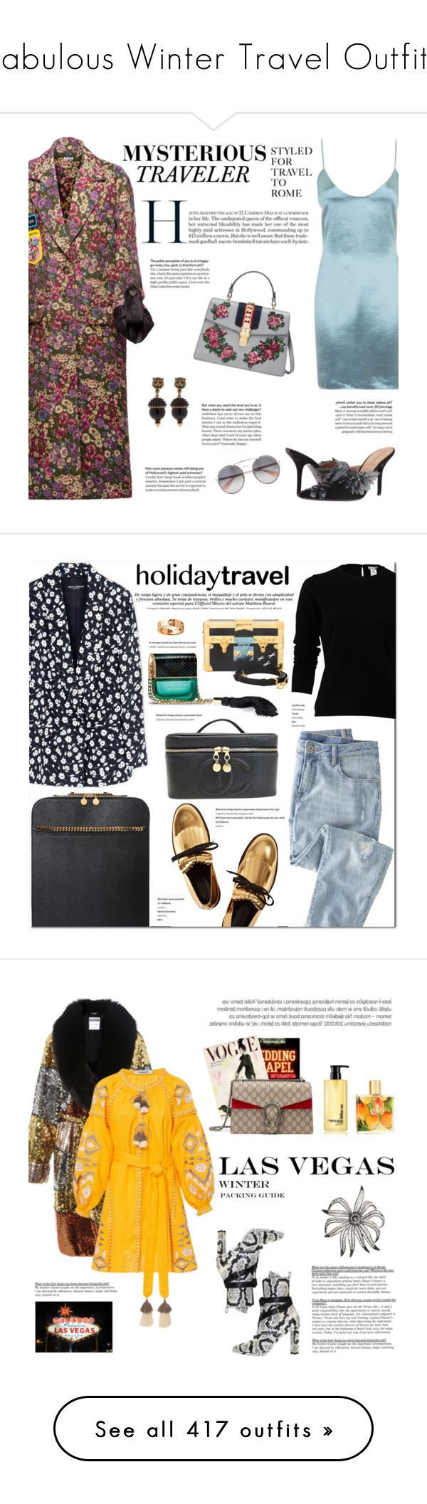 """""""Fabulous Winter Travel Outfits"""" by outfitsfortravel ❤ liked on Polyvore featuring travel, outfitsfortravel, Miu Miu, Glamorous, Gucci, Prada, Alberta Ferretti, Wrap, Marni and Dolce&Gabbana"""