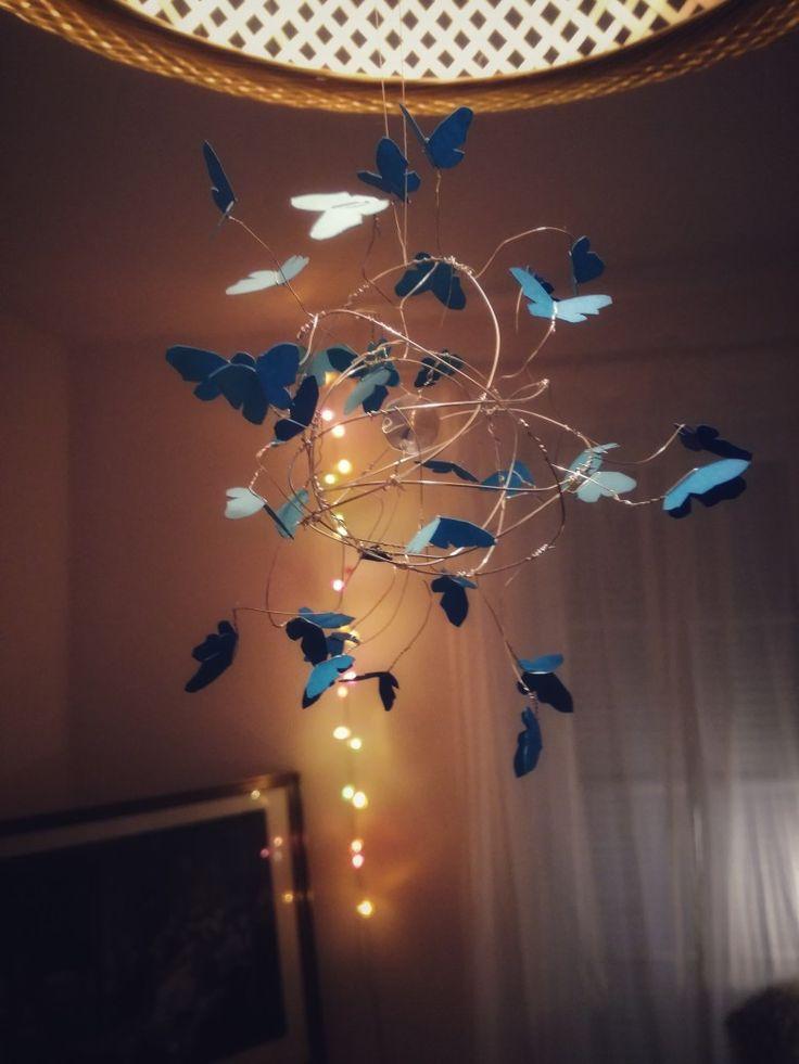 Schmetterling Mobile aus Draht