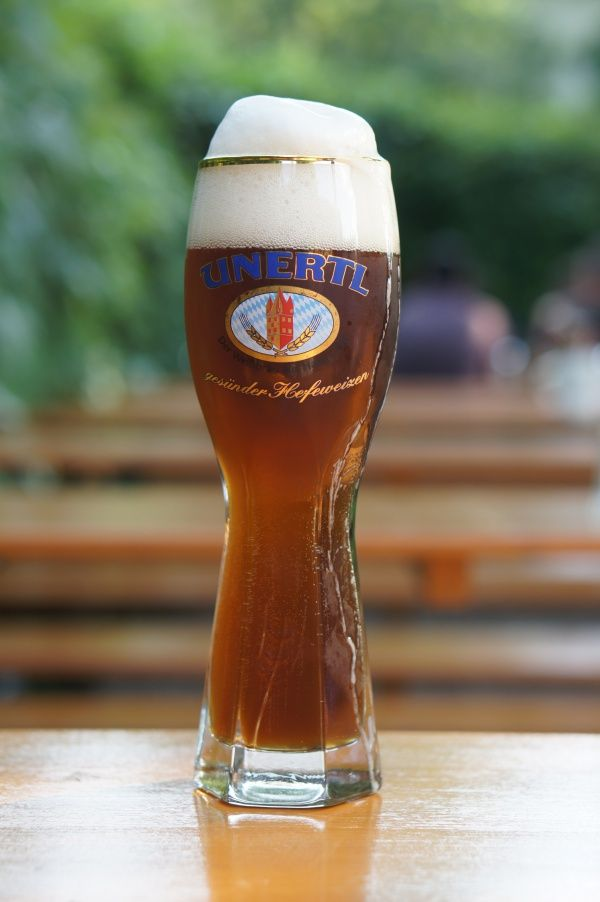 An Unertl in the Truderinger or Fürstenfelder, the only two real Munich beer garden locations where the Unertl Weißbier is drawn fresh from the cask.