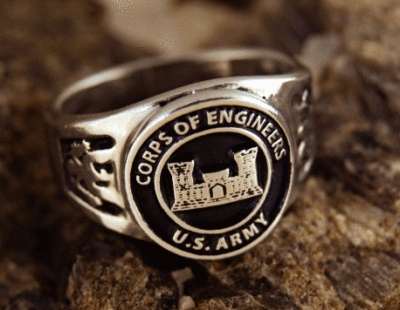 US Army, Corps of Engineers, ring