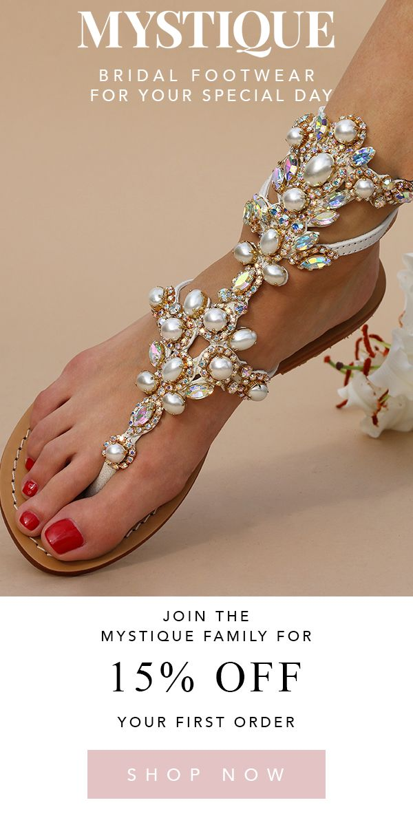 Meet The Wedding Sandals That You Ll Be Sure To Wear More Than Once Hello Honeymoon Stylish And Comforta Jeweled Sandals Wedding Sandals Bling Wedding Shoes