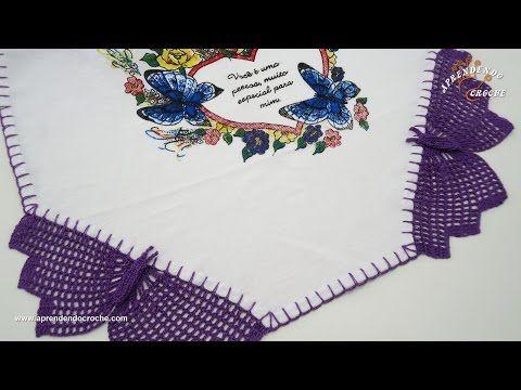 Barrado de Borboleta em Crochê - YouTube