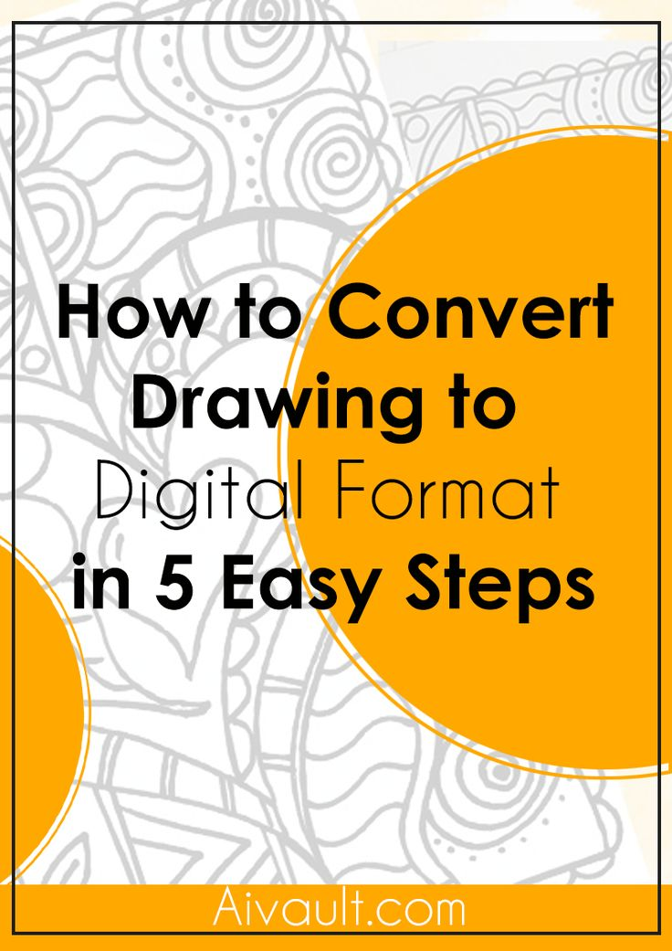 How to Convert Drawing to  Digital Format  in 5 Easy Steps Vector Tutorials and resources for download.