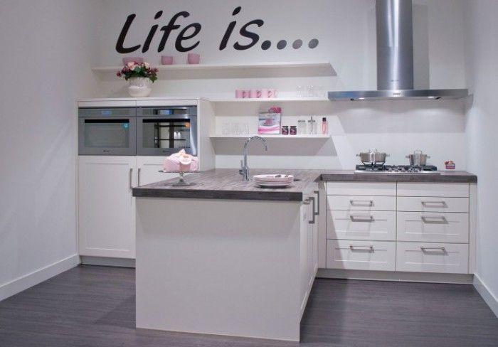 leuke opstelling voor kleine keuken