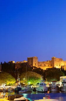 a great medieval city lies within the walls of a well preserved Venetian castle, Rhodes, Greece