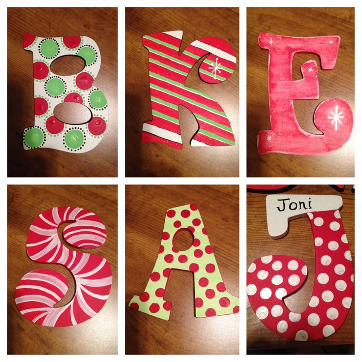 hand painted wooden letters 3