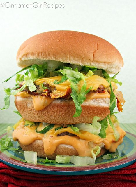Homemade Healthier Big Macs Recipe ~ This is a lighter version adapted ...