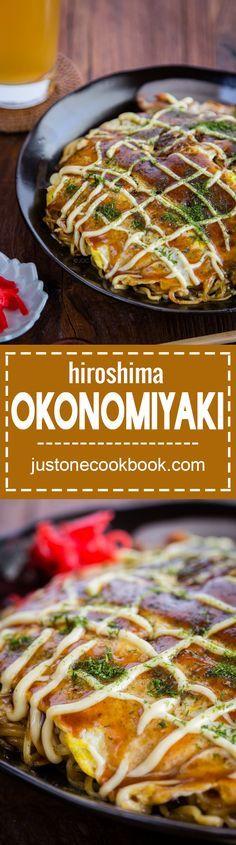 Hiroshima Okonomiyaki (広島風お好み焼き)   Easy Japanese Recipes at JustOneCookbook.com