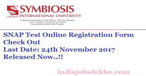 SNAP Registration 2017-18 Important Dates, SNAP Test 2017-18 Eligibility Criteria, SNAP Online Registration Form Notification 2017-18, Symbiosis National Aptitude Test 2017-18 Online Registration, SNAP Application Fee {Last Date: 24th November 2017}, Application Fee of SNAP Test 2017-18, Application Fee Payment SNAP Test 2017-18, Tips To Prepare For SNAP Test, Exam Guide SNAP Test 2017-18, SNAP Test Syllabus 2017-18, Paper Pattern SNAP Exam 2017-18, SNAP Admit Card 2018, SNAP Result…