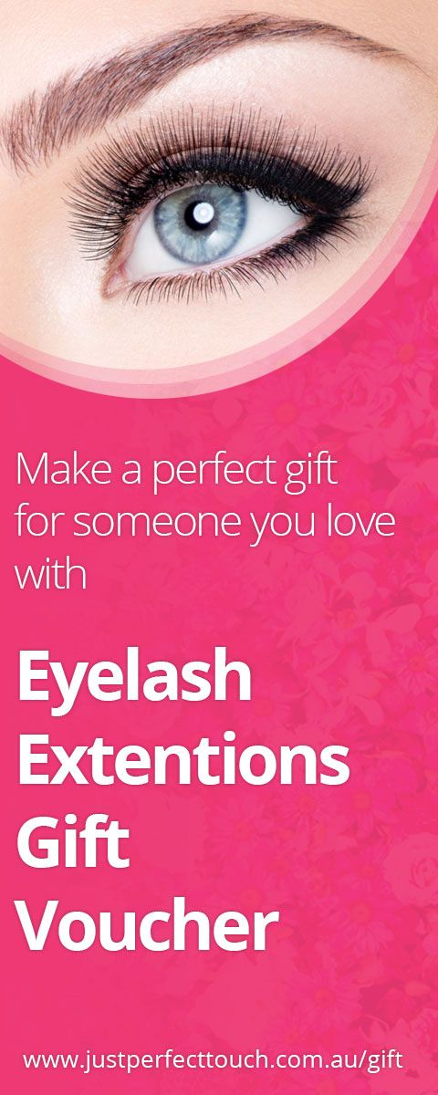 Make a perfect gift  for someone you love  with eyelash extensions gift voucher