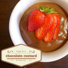 Sugar Free – Thermomix Chocolate Custard