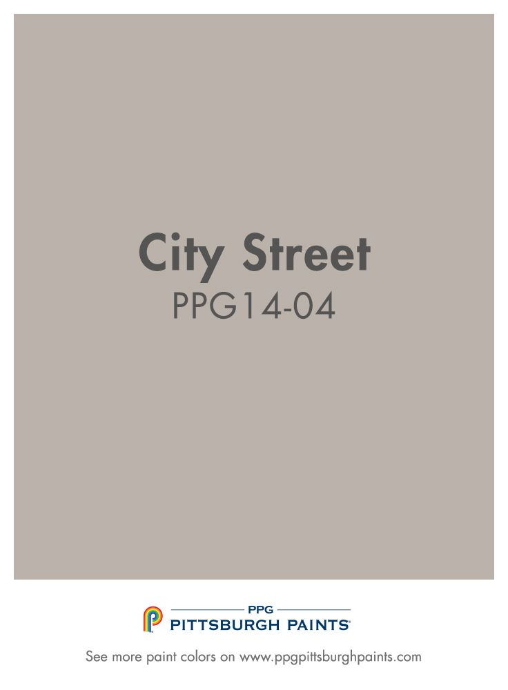 City Street PPG1404 from PPG Pittsburgh Paints is a neutral gray that can transform a living space and blend with almost any color in its environment.