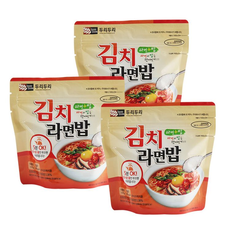 Korean Food Kimchi Noodle&Rice Ramenbap Asian Food MRE Hot Water Need Only * 3EA | Sporting Goods, Outdoor Sports, Camping & Hiking | eBay!