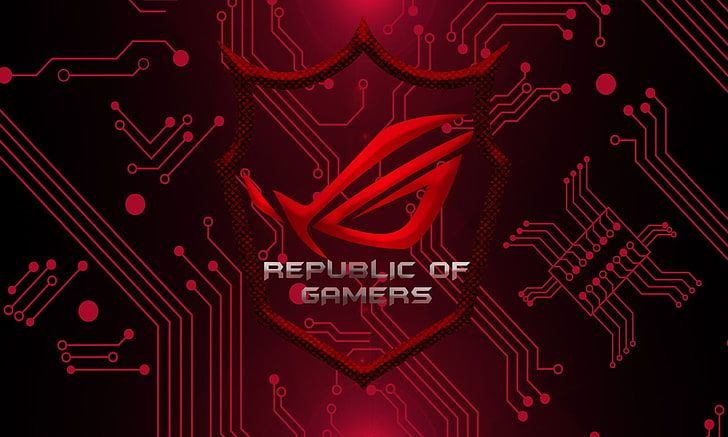 Republic Of Gamers Wallpaper Technology Asus Rog Hd Wallpaper Glitch Wallpaper Asus Rog Asus