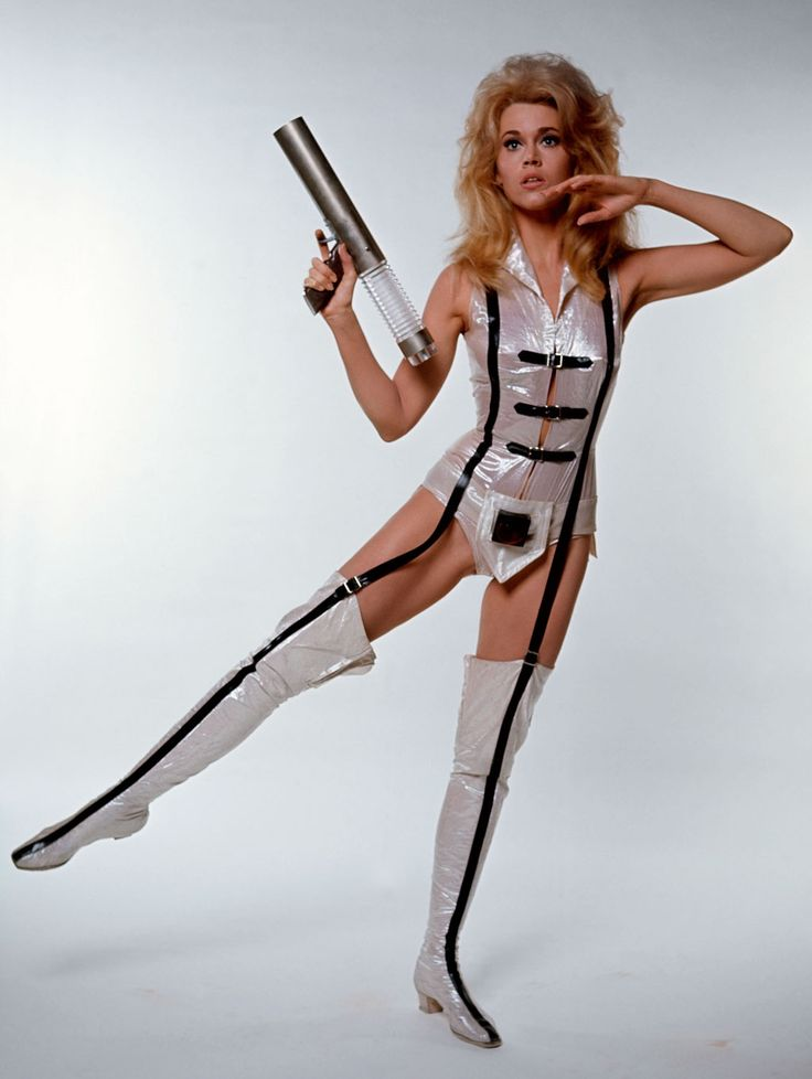 """Incredibly kitsch, incredibly funny and slightly naughty summer movie fun, a sci-fi than is much cleverer and more  surreally artistic than just a film for  indulging an obsession with its sex kitten screen idol  Jane Fonda   - """"Barbarella"""" - Roger Vadim  (1968)"""