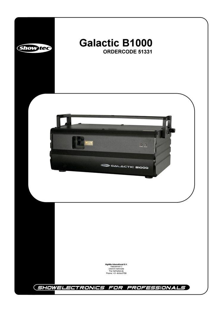 B 1000 laser manual