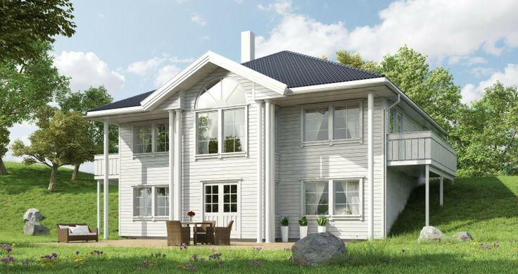 """""""Aurora"""" et herskapelig hus fra Systemhus katalogen"""