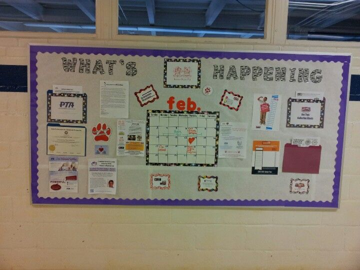 Our school PTA board. Got the folders from office max. Awesome way to keep…