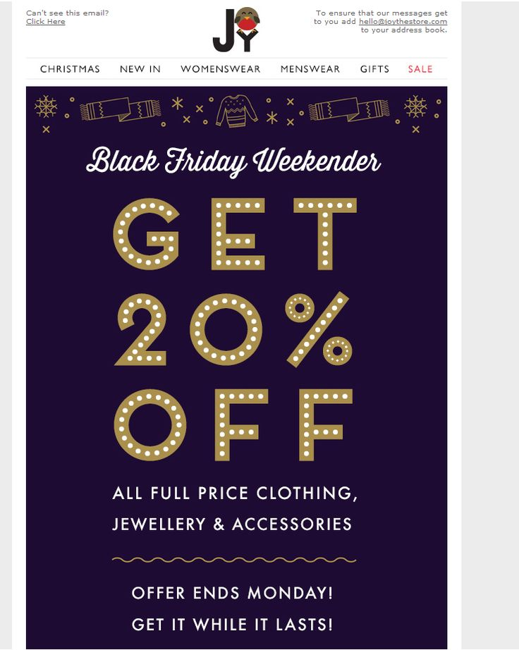 black friday email 2014                                                                                                                                                     More