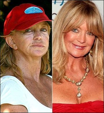 Goldie Hawn.  An ad for sunscreen.