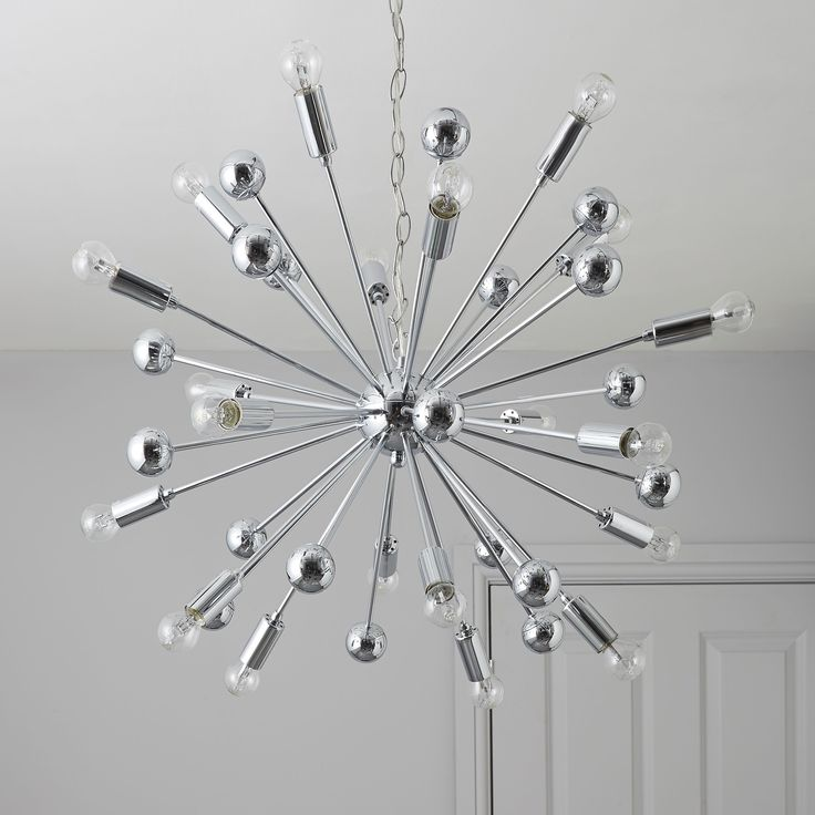 Dining room light. 2 x Colours Komet Pendant Ceiling Light from B&Q. On dimmer switches