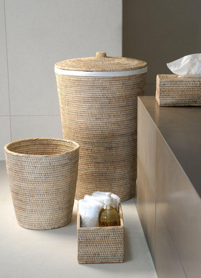 Korb Badezimmer In 2020 Waschebehalter Bad Aufbewahrung Waschekorb