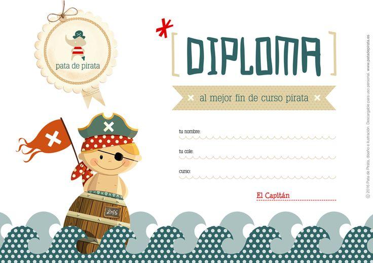 Ilustración, orlas, Invitaciones bautizo, comunión, cumpleaños, diseño grafico: DIPLOMA GRATIS POR EL PARCHE