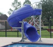 Best 25 swimming pool slides ideas on pinterest swimming pool waterfall swimming pool decks for Swimming pool water slide parts