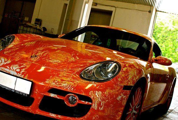 Бронирование антигравийной плёнкой KPMF Porsche Cayman http://www.chescar.ru/