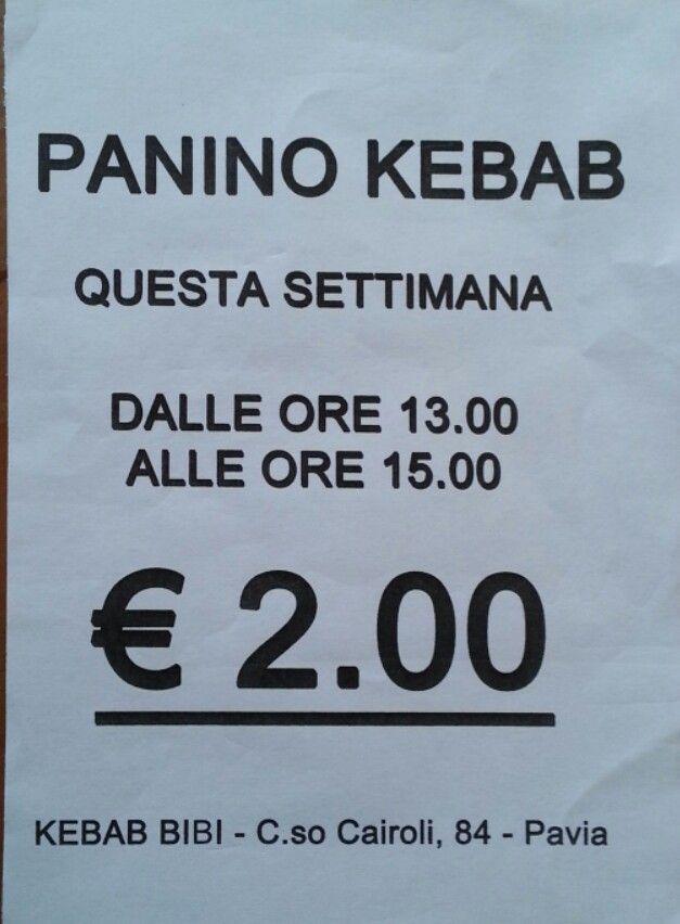 Panino kebab. Questa settimana. Per la prossima?