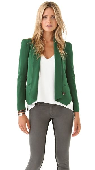 Inspirations for reentering the world of business and business casual dress codes.  Rebecca Minkoff Becky Jacket