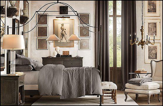 love old world bedroom interiors industrial style