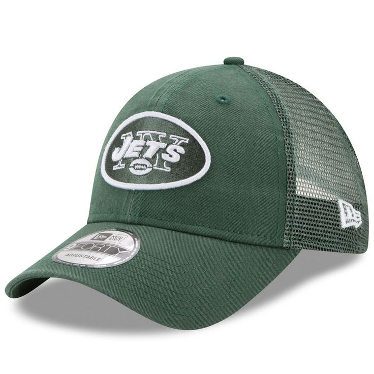 New York Jets New Era Trucker Washed 9FORTY Adjustable Hat - Green