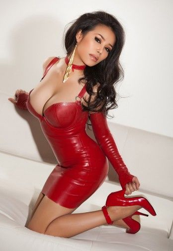 Sexy In Red  Kinky  Pinterest  Latex, Asian And Hot -8337