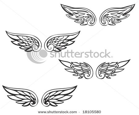 angel wing tattoos with initials for the two women in my life who received there wings way to early in life.