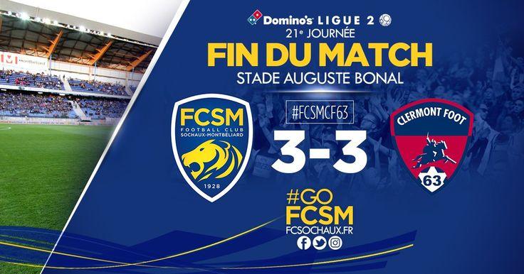 C'est terminé. Le FCSM a sauvé les meubles avec cette égalisation en fin de match mais peut quand même nourrir d'énormes regrets. #FCSMCF63