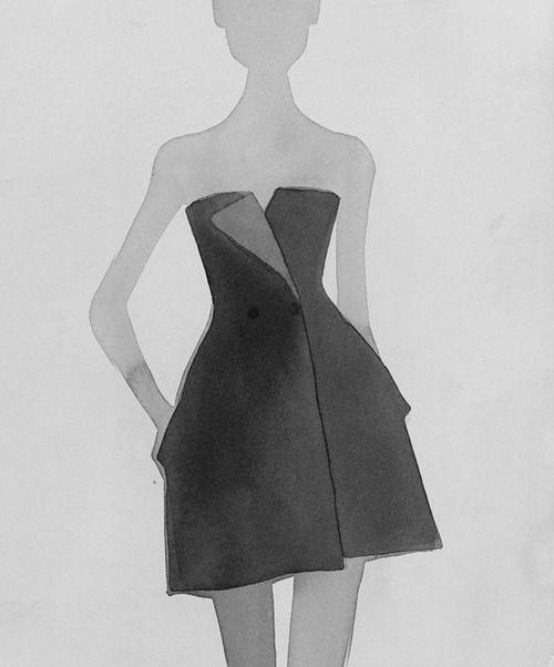 Fashion illustration - little black dress sketch // Mats Gustafson