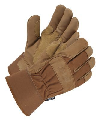 Carhartt Insulated Grain Leather Work Gloves with Safety Cuff for Men - Brown - M